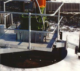 Green-Aerator-orange-motor-in-use
