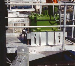 Green-Aerator-orange-motor-in-use-closer