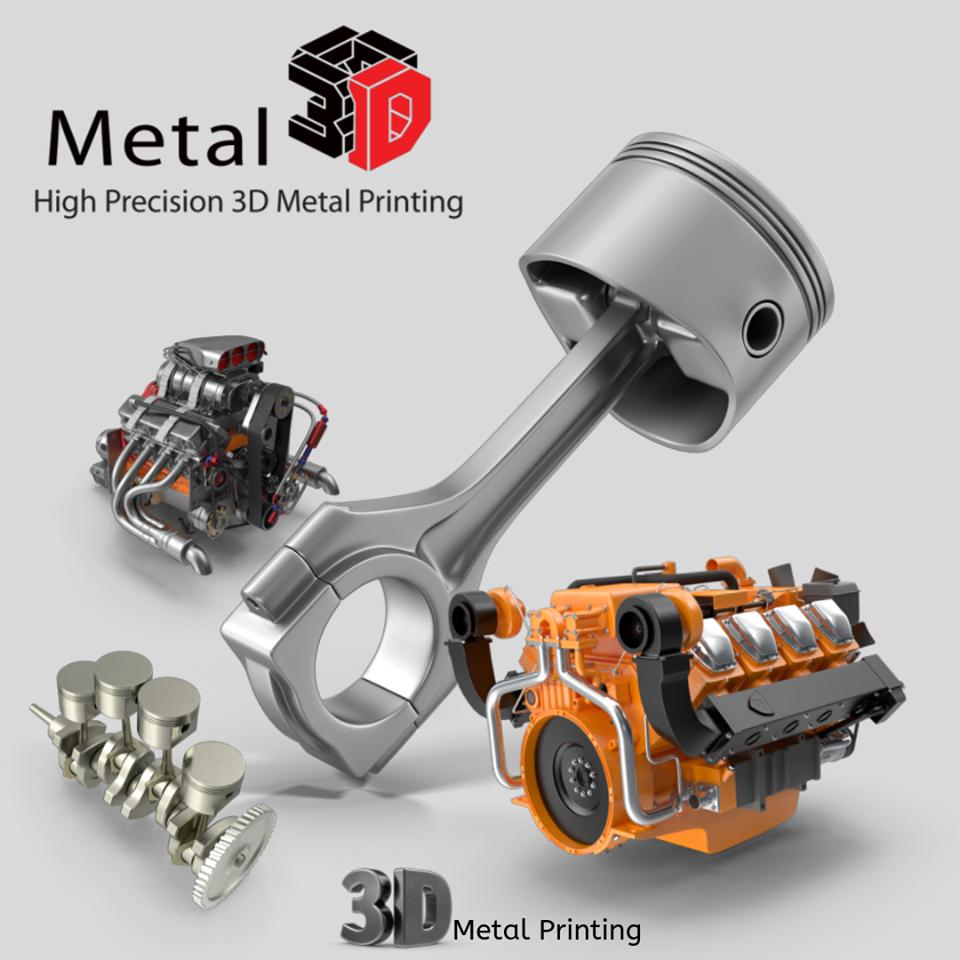 Automotive metal 3d printing