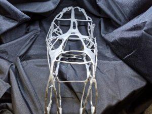 titanium printed pannier bracket